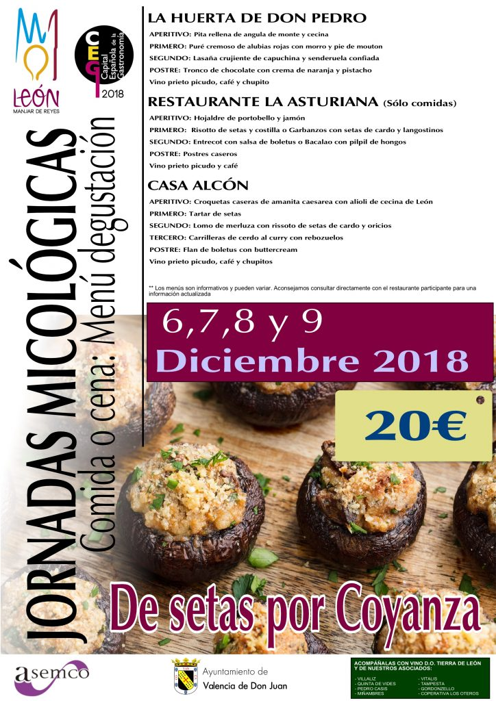 Jornadas micológicas – De setas por Coyanza 2018