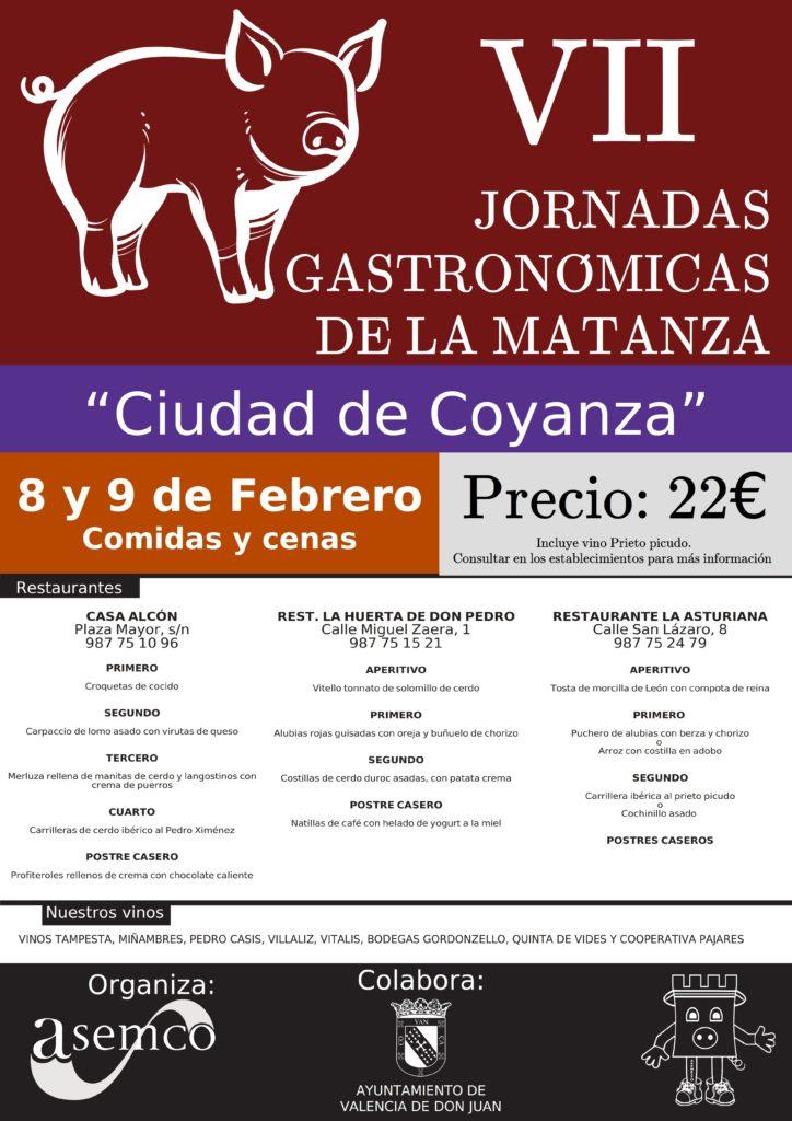 """VII JORNADAS GASTRONÓMICAS DE LA MATANZA """"Ciudad de Coyanza"""""""